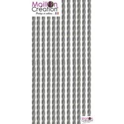 rideau de porte plastique gris