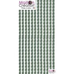 rideau de porte plastique vert métal