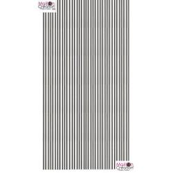 rideau lanière plastique sur mesure noir et blanc