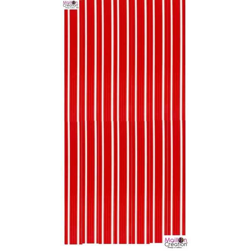 rideau lanière pvc épais rouge