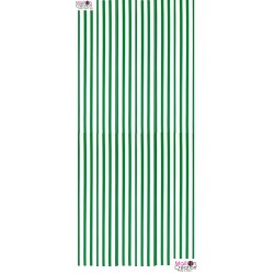 curtain in green plastic strap