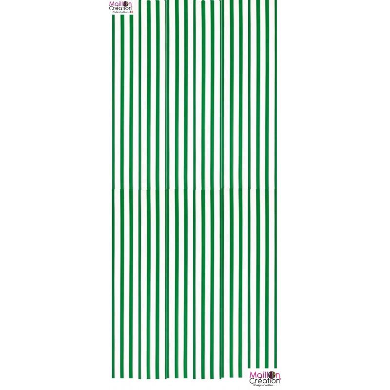 rideau en lanière plastique vert