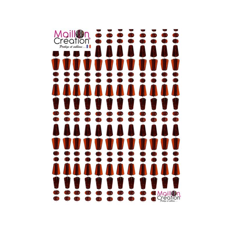 Curtain Perla Cognac Maillon Création - 1