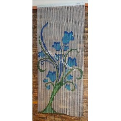 "Door curtain ""Blue Lily"""