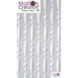 rideau perle blanche