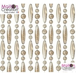 """Pearl curtain """"Olive"""" champagne Maillon Création - 2"""