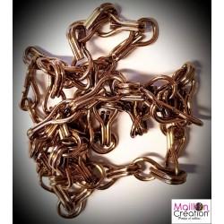 échantillon de chaîne marron pour rideau de porte