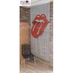 rideau de porte design en chaine aluminium. Modèle rock