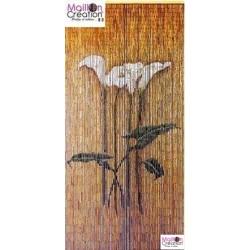 BAMBOO Curtain Arum Flowers Morel - 1