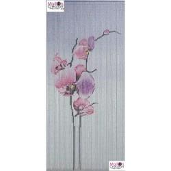 rideau bambou orchidées