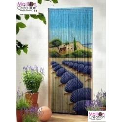 rideau en bambou dessin lavande