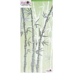 rideau en bambou avec dessin
