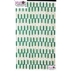 Green / beige wood olives curtain Morel - 1