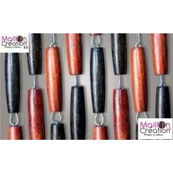 Curtain olives wood black / brown Morel - 2