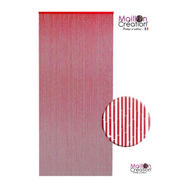 rideau en bambou rouge