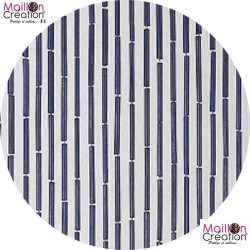BAMBOU curtain aubergine Morel - 1