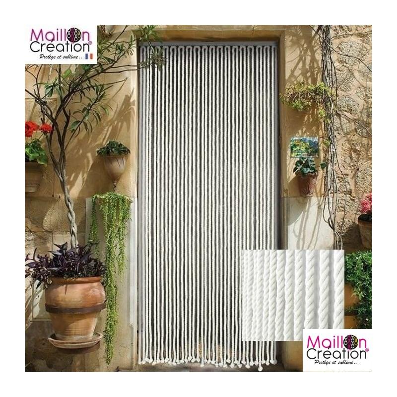 rideau de porte en corde tressée blanche