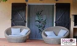 rideaux de porte sur mesure chaînette alu
