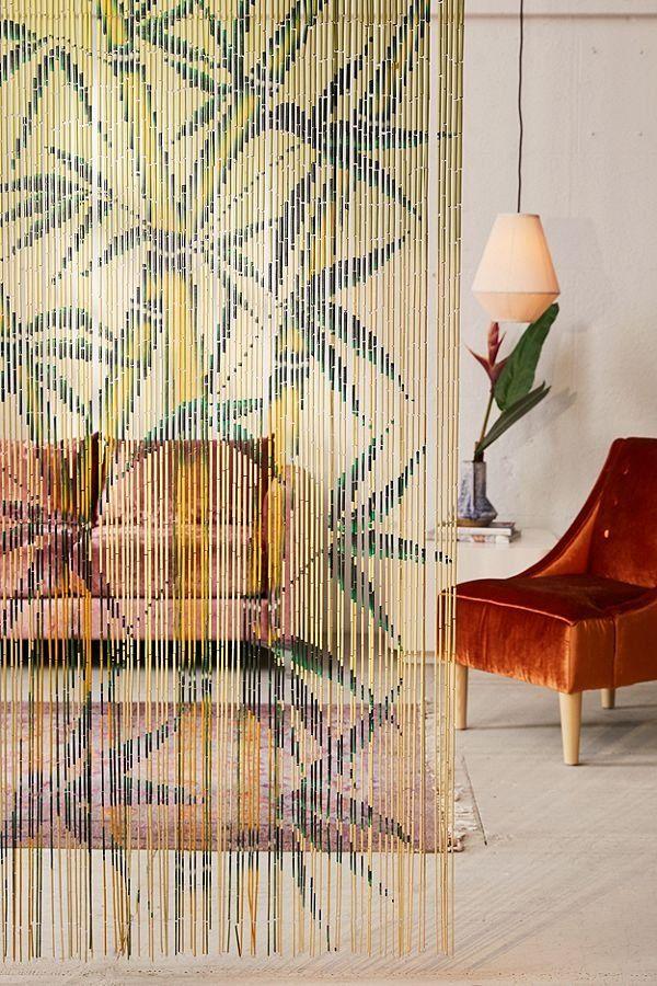 rideau de porte en bambou