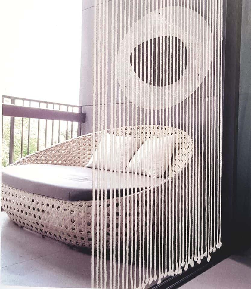 rideau séparateur de pièce naturel