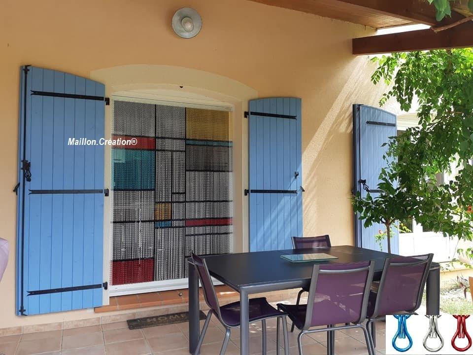 M c rideau cha ne aluminium rideau de porte porti re sur mesure - Rideaux de porte exterieur ...