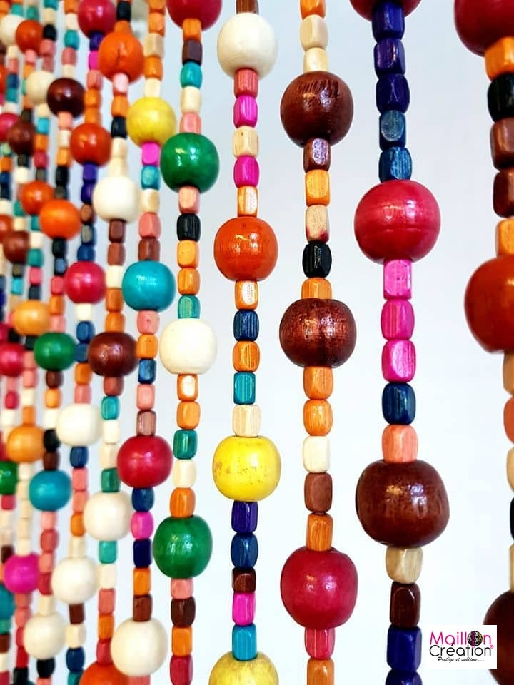 rideau perle multicolore